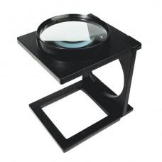 LUPA dobrável de mesa, 110mm de diâmetro , 13,3x15,3x18,5cm